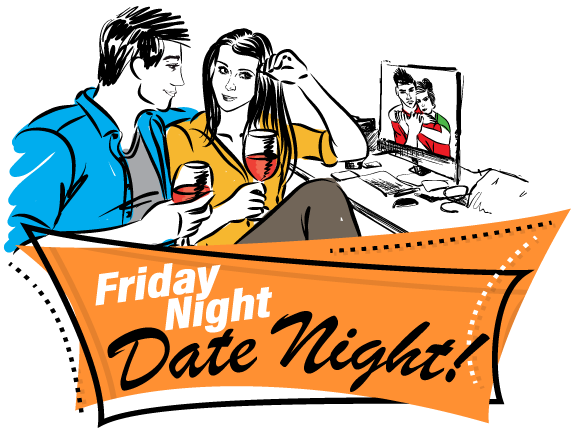 Friday Night Date Night Web-Social Media PNG